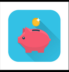 Money box flat icon vector