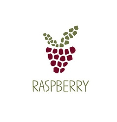 mosaic raspberry design template vector image