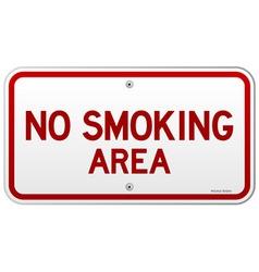 No Smoking Area Notice vector image vector image