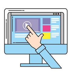 online video website vector image