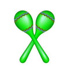 Pair of maracas in green design vector