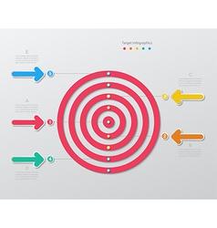 Paper target infographics vector