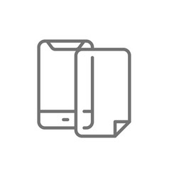 Phone protective film screen protector line icon vector