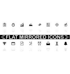 Planning organization - flat icons vector