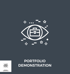 portfolio demonstration line icon vector image