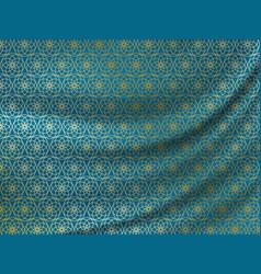 Ramadan kareem golden oriental pattern on wavy vector