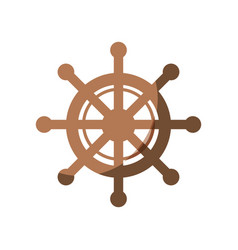 Rudder wheel icon vector