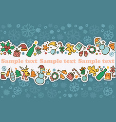 seamless banner on a theme of new year and vector image