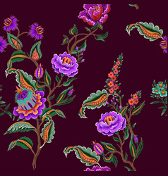 Seamless pattern with indian ethnic ornament vector