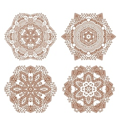 Set aztec ornaments vector