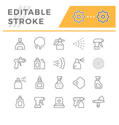 set line icons spray vector image