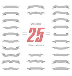 Set of ribbon shapes collection of vintage design vector