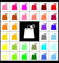 Shopping bag sign with tag felt-pen 33 vector