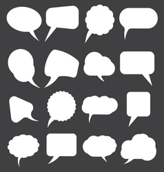 speech bubles simpe1 vector image