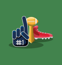 sport fan glove vector image