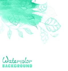 Spring watercolor background vector image