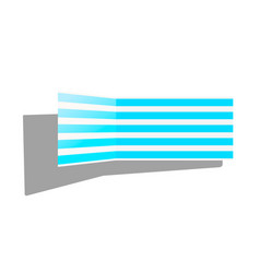 Striped lounge chair vector