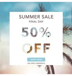 Summer Sale Banner Sale Background Big sale vector image