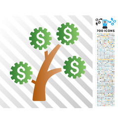 technology money tree flat icon with bonus vector image