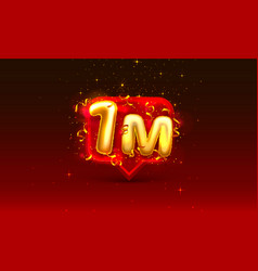 Thank you followers peoples 1m online social vector