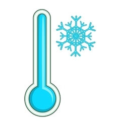 Thermometer low temperature icon cartoon style vector image