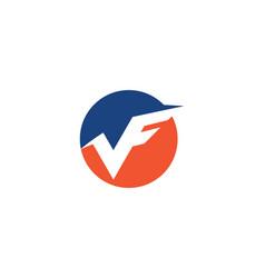 v f letter logo vector image