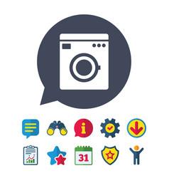 Washing machine icon home appliances symbol vector