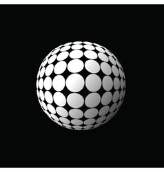white ball vector image