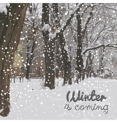 Winter is coming Winter background vector image