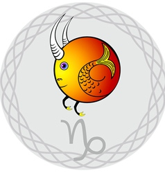 zodiac signs capricorn vector image
