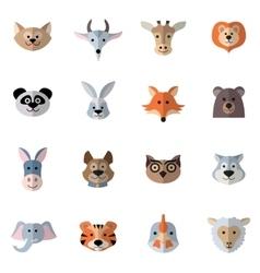 Animals Heads Flat vector image