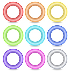 Colourful ring buttons vector image vector image