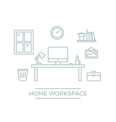 Home Workspace vector image
