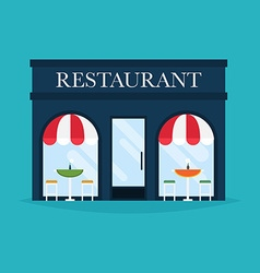 restaurant building Facade icons Ideal vector image vector image