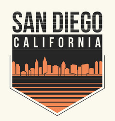 san diego graphic t-shirt design tee print vector image