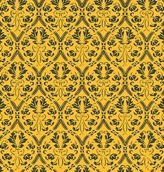 Seamless floral damask background vector