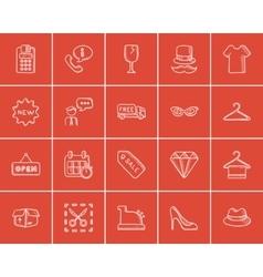 Shopping sketch icon set vector image vector image