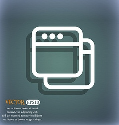 Simple Browser window icon symbol on the vector image