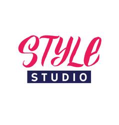 style studio logo beauty lettering custom vector image