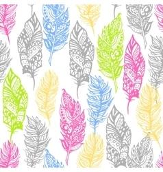 Hand drawn zentangle doodle neon colors vector image