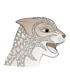 leopard head big gray cat vector image