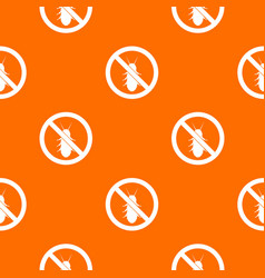no termite sign pattern seamless vector image vector image