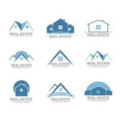 real estate logos vector image vector image