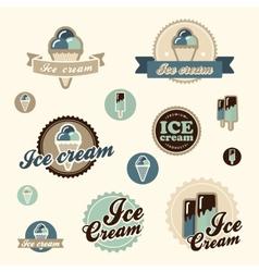 Set of vintage ice cream vector image