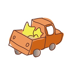A truck is running vector image