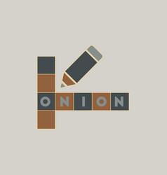 crossword education game for children vector image