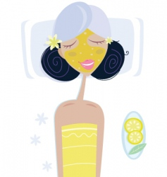 health spa girl vector image vector image