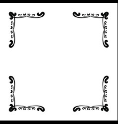 simple and elegant square frame design template vector image vector image