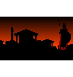 ancient city with guardian vector image vector image