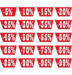 discount label set for design vector image